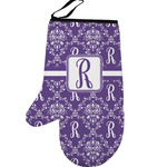 Initial Damask Left Oven Mitt (Personalized)