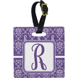 Initial Damask Square Luggage Tag (Personalized)