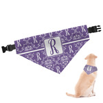 Initial Damask Dog Bandana (Personalized)