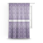 Initial Damask Sheer Curtains (Personalized)