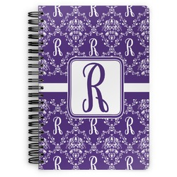 Initial Damask Spiral Bound Notebook (Personalized)