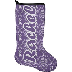 Initial Damask Christmas Stocking - Neoprene (Personalized)