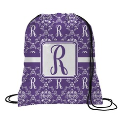 Initial Damask Drawstring Backpack (Personalized)
