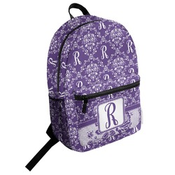 Initial Damask Student Backpack (Personalized)