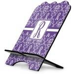 Initial Damask Stylized Tablet Stand (Personalized)
