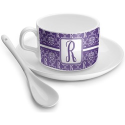 Initial Damask Tea Cups (Personalized)