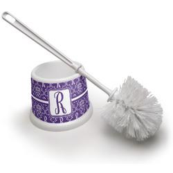 Initial Damask Toilet Brush (Personalized)