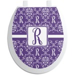 Initial Damask Toilet Seat Decal (Personalized)