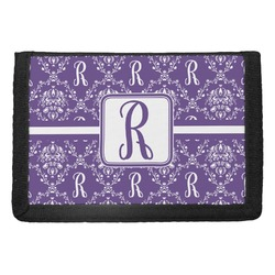 Initial Damask Trifold Wallet (Personalized)