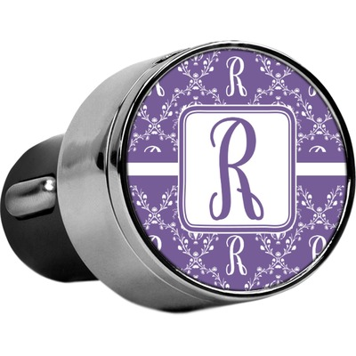 Initial Damask USB Car Charger (Personalized)