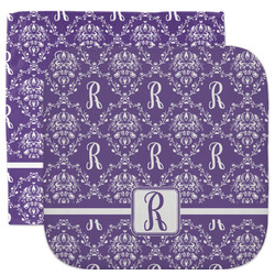 Initial Damask Facecloth / Wash Cloth (Personalized)