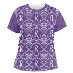 Initial Damask Women's Crew T-Shirt (Personalized)