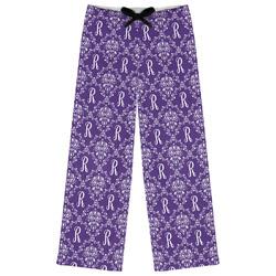 Initial Damask Womens Pajama Pants (Personalized)