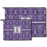 Initial Damask Zipper Pouch (Personalized)