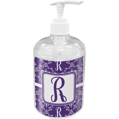 Initial Damask Soap / Lotion Dispenser (Personalized)