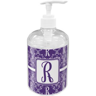 Initial Damask Acrylic Soap & Lotion Bottle