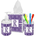 Initial Damask Bathroom Accessories Set (Personalized)