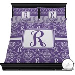 Initial Damask Duvet Cover Set (Personalized)