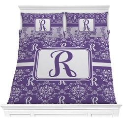 Initial Damask Comforters (Personalized)