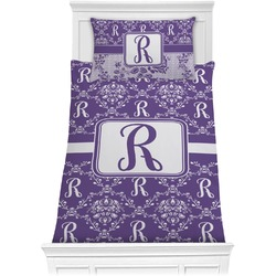 Initial Damask Comforter Set - Twin (Personalized)