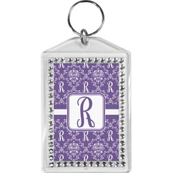 Initial Damask Bling Keychain (Personalized)