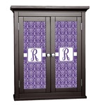 Initial Damask Cabinet Decal - Custom Size (Personalized)
