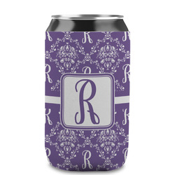 Initial Damask Can Sleeve (12 oz) (Personalized)