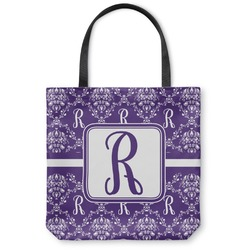 Initial Damask Canvas Tote Bag (Personalized)