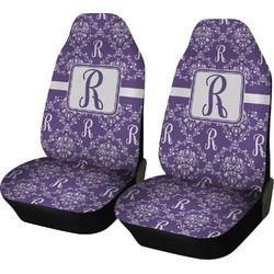 Initial Damask Car Seat Covers (Set of Two) (Personalized)