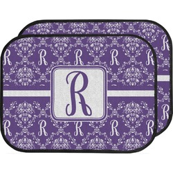 Initial Damask Car Floor Mats (Back Seat) (Personalized)
