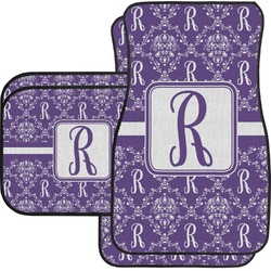 Initial Damask Car Floor Mats Set - 2 Front & 2 Back (Personalized)