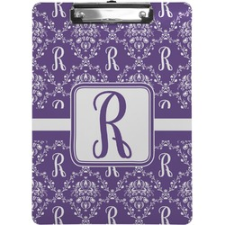 Initial Damask Clipboard (Personalized)
