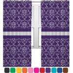 Initial Damask Curtains (2 Panels Per Set) (Personalized)