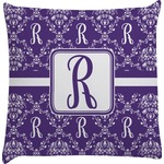 Initial Damask Decorative Pillow Case (Personalized)