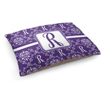 Initial Damask Dog Bed (Personalized)