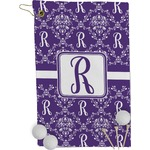 Initial Damask Golf Towel - Full Print (Personalized)