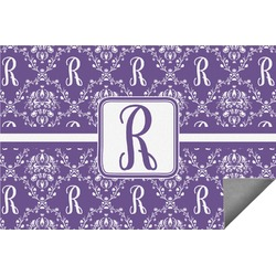 Initial Damask Indoor / Outdoor Rug - 8'x10' (Personalized)