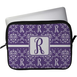 "Initial Damask Laptop Sleeve / Case - 15"" (Personalized)"