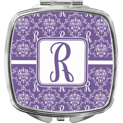 Initial Damask Compact Makeup Mirror (Personalized)