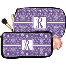 Initial Damask Makeup / Cosmetic Bag (Personalized)