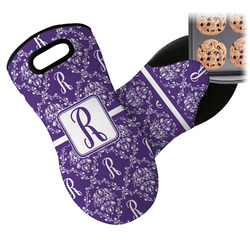 Initial Damask Neoprene Oven Mitt (Personalized)