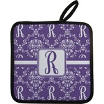 Initial Damask Pot Holder (Personalized)