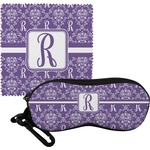 Initial Damask Eyeglass Case & Cloth (Personalized)