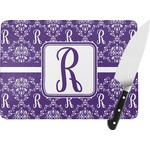 Initial Damask Rectangular Glass Cutting Board (Personalized)