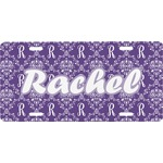 Initial Damask Front License Plate (Personalized)