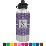 Initial Damask Water Bottle (Personalized)