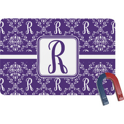 Initial Damask Rectangular Fridge Magnet (Personalized)