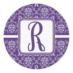 Initial Damask Round Decal - Small (Personalized)