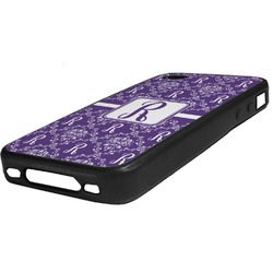 Initial Damask Rubber iPhone Case 4/4S (Personalized)