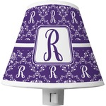 Initial Damask Shade Night Light (Personalized)